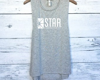 Star Laboratories Muscle Tank Tee - The Flash Muscle Tank - The Flash Tee