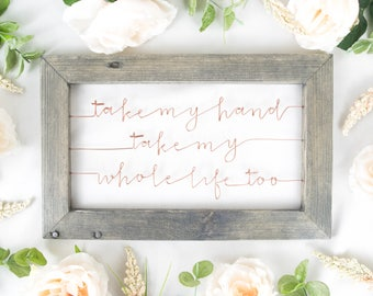 Elvis Presley Wire & Wood Sign   Gift for Newlyweds   Framed Wedding Song   Bedroom Decor   Anniversary Gift   Song Lyrics Art   Boho Decor