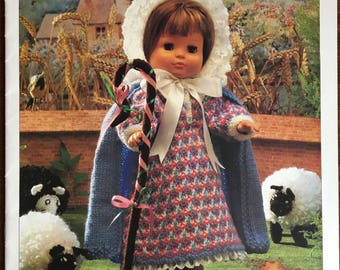 Little Bo Beep and Friends Knitting Pattern, Hayfield Knitting Pattern, Nursery Rhyme Clothes Pattern, Dolls Clothes Pattern, No. 7107