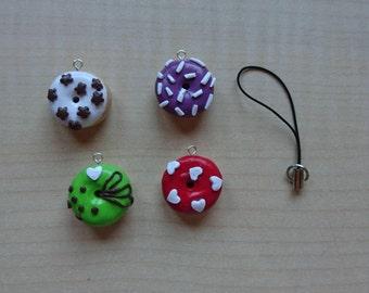 Mini Donuts. Donuts. Keychain. Handmade