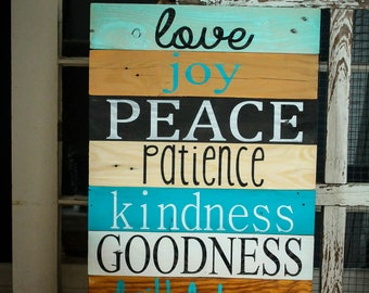 Fruit of the Spirit Reclaimed Wood Sign
