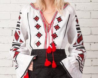 Vyshyvanka black Mini Skirt Bohemian Ukraine Boho Style Embroidered Linen Skirt Mexican Skirt Black Friday sale