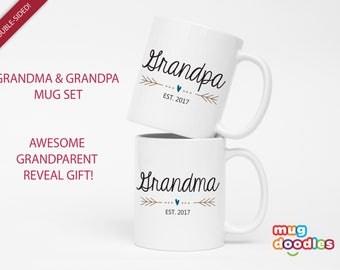 New Grandparent Mugs, Pregnancy Reveal to Grandparents, Pregnancy Announcement Grandparents, Future Grandma, New Grandparents, Mug, MD642