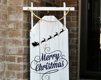 Sled,Decorative Welcome Porch Sled, Decorative Porch Sleigh, Christmas Sled