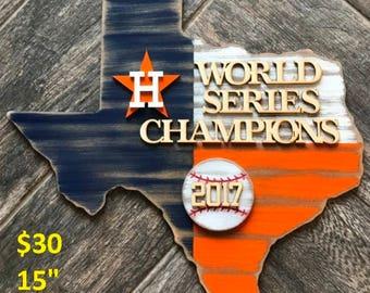 Houston Astros World Series Sign