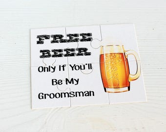 Will you be My Groomsman, Funny Groomsmen card, Free Beer Groomsmen card, Dude will you be my- groomsmen invitation, Best man card