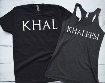 Game of Thrones Couple Shirts Khal and Khaleesi
