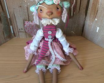 O.O.A.K. Art doll Moppiedoll Jessica de Geus Pepper
