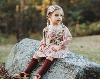 Autumn Acorn Wool Hair Clip / Woodland Hair Clip / Wool Felt Hair Clip / Woodland Girl's Accessory