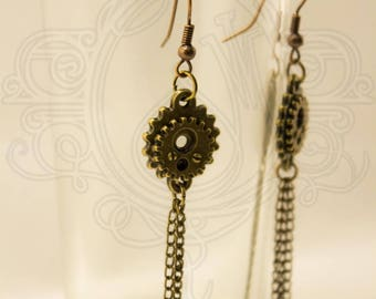 Steampunk inspired earrings
