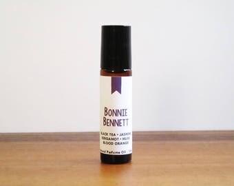 BONNIE BENNETT / Black Tea Jasmine Bergamot Musk & Blood Orange / Book Inspired / Vampire Diaries Collection / Roll-On Perfume Oil