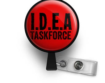 IDEA Taskforce Retractable ID Badge Reel