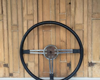 "Vintage Tractor Steering Wheel, 18"" Steering Wheel, Man Cave Decor, Farmhouse Style"