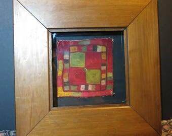 FRAMED PAIR GYPSY antique bag panels (pair)