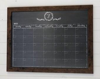 "monogram gift , 24""x18"" calendar, monogram calendar, initialed calendar , #18.M2.H"