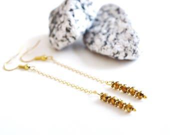 "Long Chic ""Golden"" earrings"