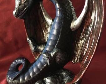 The Elven shadow dragon figurine by wizzard emporium.