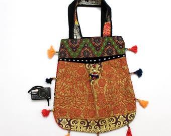 Handmade Ethnic Designer Tribal Banjara Patchwork Embroidered Hippy Fashionable Stylish Trendy Hippie Gypsy Boho Bohemian Carry Bag G263