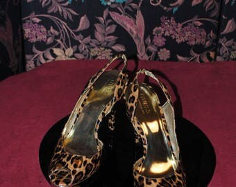 "Sandal high patent encuir leopard ""Guess"" by Marciano t: 37.5"