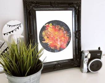 Abstract Volcanic Galaxy Print Digital Download