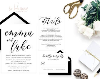 Wedding Stationery Branding by LaBohemmePaperCo on Etsy