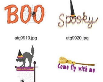 Halloween-Sayings ( 7 Machine Embroidery Designs from ATW ) XYZ17H