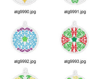 Lace-Christmas-Ornaments ( 10 Machine Embroidery Designs from ATW ) XYZ17K