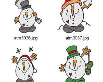 Chubby-Snowmen ( 7 Machine Embroidery Designs from ATW ) XYZ17M