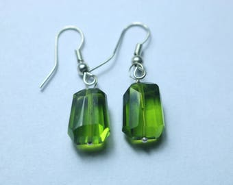 925 Sterling Silver Handmade Earrings Sterling Silver With Natural Peridot  Gemstone