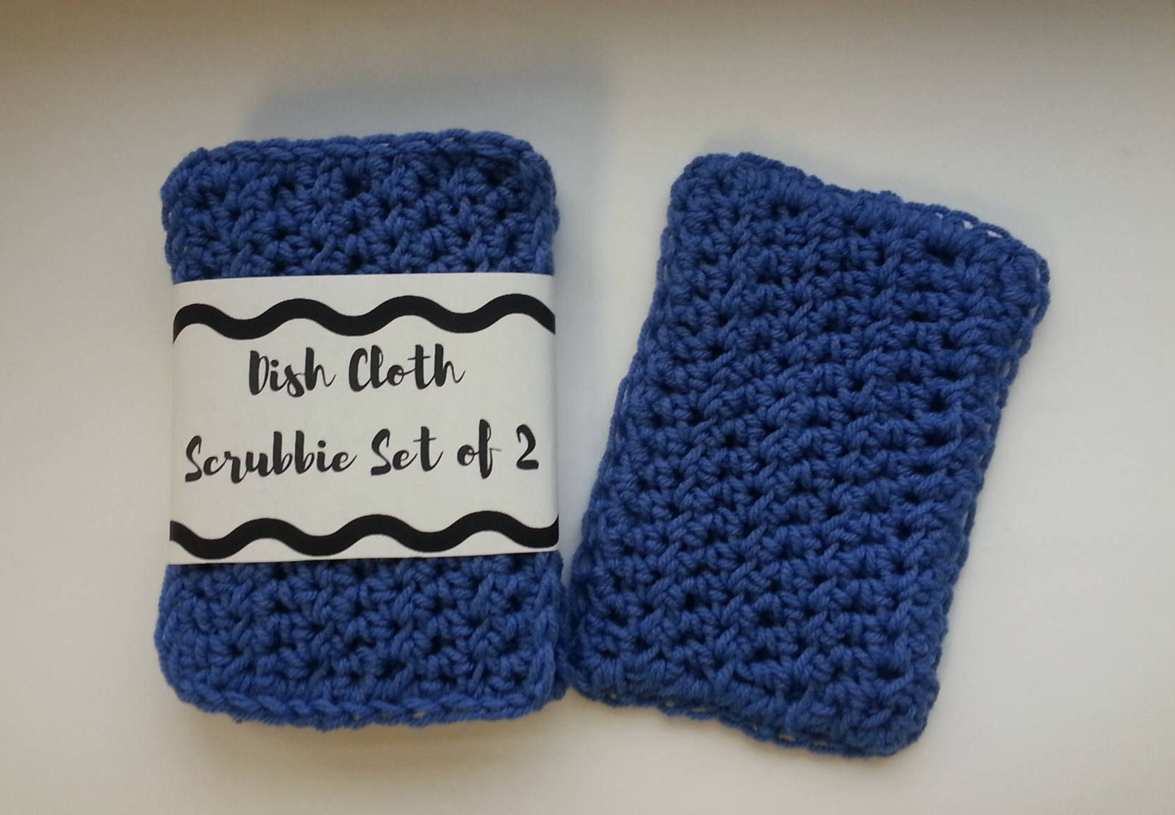 Zero Waste Crochet Dish Sponge Vegan Reusable Dish Sponge