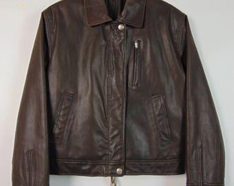Vintage Distressed Leather Jacket
