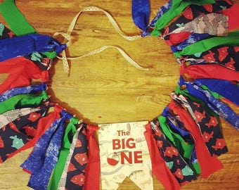 The Big One  Highchair Banner - First Birthday - Fish theme Birthday - Fish Birthday Party - Birthday Shirt - Ofishally One - Fishing Shirt