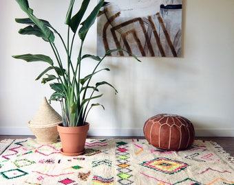 """Vintage Azilal Morrocan Rug 7'10"""" x 4'9"""" - Christmas Gift"""