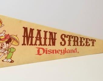Main Street, Disneyland - Vintage Pennant