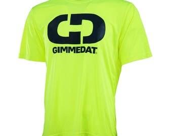 GIMMEDAT Logo Performance Tee, Short Sleeve Performance T-Shirt - Free Shipping!