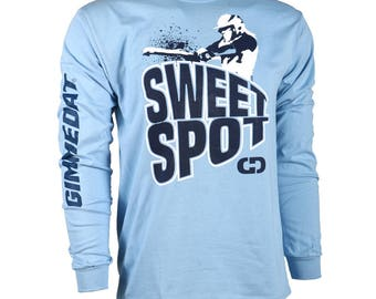 Sweet Spot Long Sleeve Softball T-shirt, Softball Shirts, Softball Gift - Free Shipping!