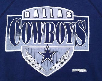 Vintage 90's Dallas Cowboys NFL Crewneck Sweatshirt Made in USA by Tultex XL
