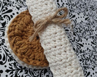 Hand Made Crochet Cloth Set/ Wash Cloth Set/ Reusable Wash Cloth/ Reusable Facecloth/ Exfoliating Cloth and Scrubbies