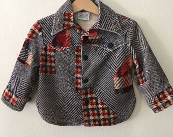 Vintage 1970s Baby Toddler Boys Jacket Coat * Billy the Kid Jacket Size 2t