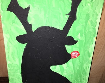Reindeer with a red nose