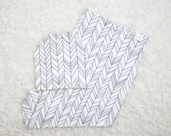 READY TO SHIP | Swaddle Sack, Feather Swaddle Sack, Gender Neutral Swaddle Sack, Baby Shower Gift, Gender Neutral, Feathers, Chevron