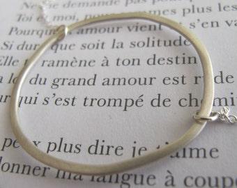 Large Silver Pendant Necklace, Hoop Pendant Necklace, Irregular Shape, Large Pendant Necklace, Large Circle Necklace, Silver Hoop Necklace