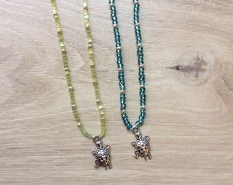 """Necklace """"turtle"""" , dark blue"""
