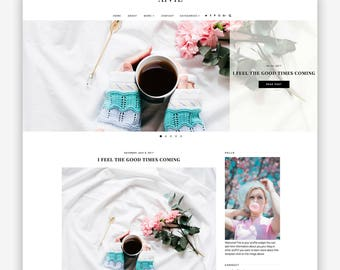 LIMITED! Aivie | Responsive Minimalist Premade Blogger Template