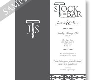 Stock the Bar Invitation. Couples Shower Invitation only.