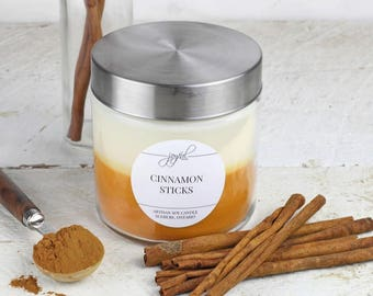 Soy Candle | Mason Jar Candles | Food Gift | Container Candles | Homemade Candles | Dessert Scented Candle | Cinnamon Scented Candle 24 oz