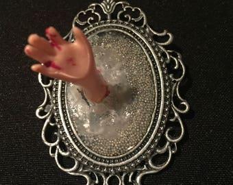 Gothic pendant ooak