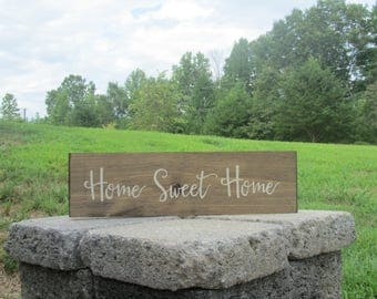 Home Sweet Home Sign, Wood Sign, Farmhouse Decor, Porch Decor, House warming Gift,
