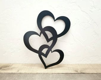 Metal heart decor | Etsy