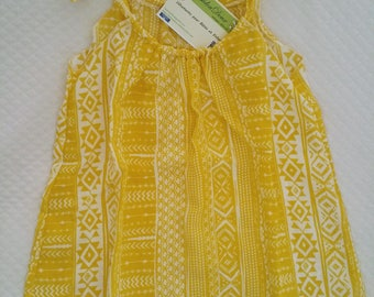 Baby dress with knotted straps dress, beach, cotton, girl tunic dress